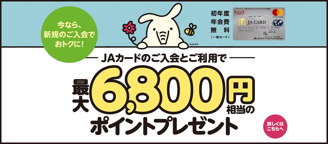 JAカード6800円相当